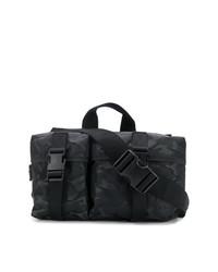 Mochila de lona de camuflaje negra de McQ Alexander McQueen