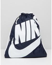 Mochila de lona estampada azul marino de Nike
