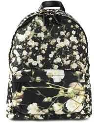Mochila de lona estampada en negro y blanco de Givenchy