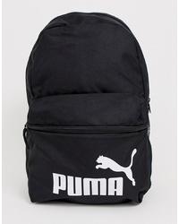 Mochila de lona estampada en negro y blanco de Puma