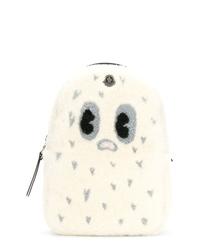 Mochila estampada blanca de Moncler