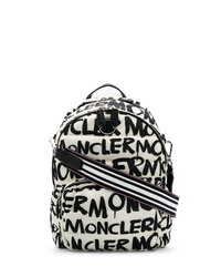 Mochila estampada en blanco y negro de Moncler