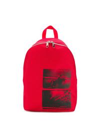 Mochila estampada roja de Calvin Klein Jeans
