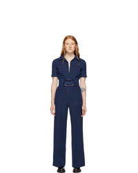 Mono azul marino de Gucci
