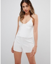 Mono corto blanco de Missguided