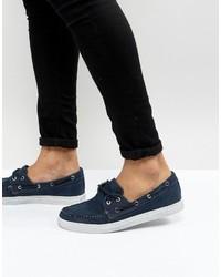 Náuticos de lona azul marino de Armani Jeans