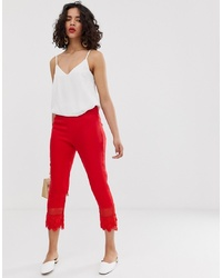 Pantalón capri rojo de LOST INK