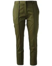 Pantalón capri verde oliva