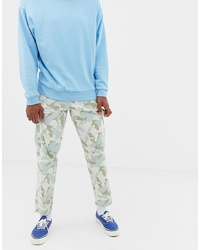 Pantalón cargo de camuflaje gris de ASOS DESIGN