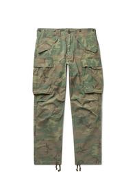 Pantalón cargo de camuflaje verde oliva de RRL