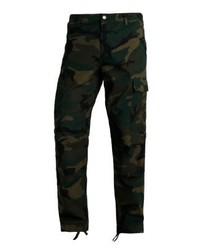 Pantalón cargo de camuflaje verde oscuro de Carhartt WIP