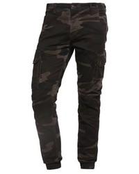 Pantalón cargo de camuflaje verde oscuro de Jack & Jones