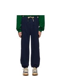 Pantalón cargo de espiguilla azul marino de Gucci