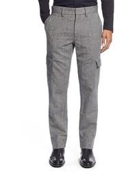Pantalón cargo de lana gris