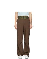 Pantalón cargo de lana marrón de Lanvin
