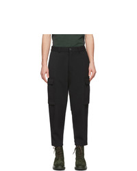 Pantalón cargo de lana negro de AMI Alexandre Mattiussi