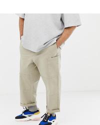 Pantalón cargo en beige de ASOS WHITE