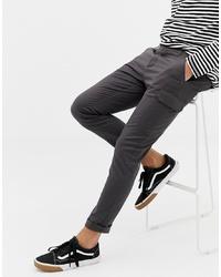 Pantalón cargo en gris oscuro de ASOS DESIGN