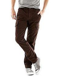 Pantalón cargo en marrón oscuro