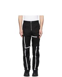 Pantalón cargo en negro y blanco de Spencer Badu