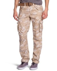 Pantalón cargo marrón claro de Schott NYC