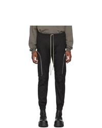 Pantalón cargo negro de Rick Owens