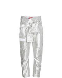 Pantalón cargo plateado de Ronald Van Der Kemp