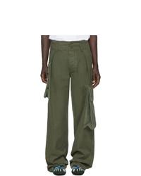 Pantalón cargo verde oliva de Loewe