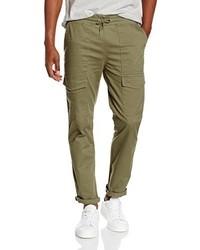 Pantalón cargo verde oliva de New Look