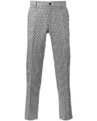 Pantalón chino a cuadros azul de Etro