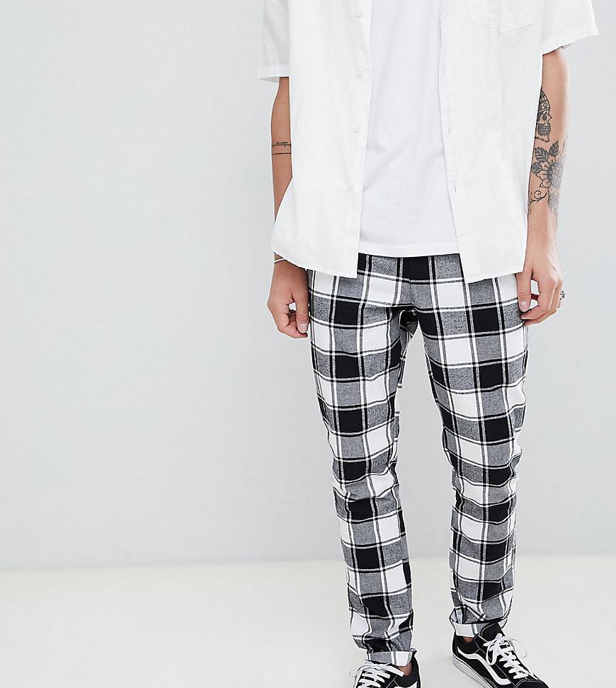 f2450de964 ... Pantalón chino a cuadros en blanco y negro de ASOS DESIGN