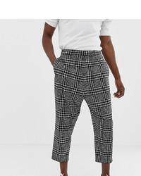 Pantalón chino a cuadros en blanco y negro de Noak