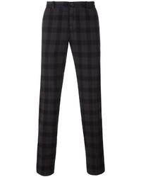 Pantalón chino a cuadros en gris oscuro