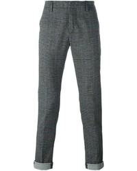 Pantalón chino a cuadros en gris oscuro de Dondup