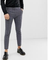 Pantalón chino a cuadros en gris oscuro de Farah Smart