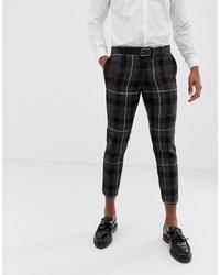 Pantalón chino a cuadros en gris oscuro de Twisted Tailor