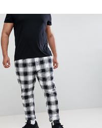 Pantalón chino a cuadros en negro y blanco