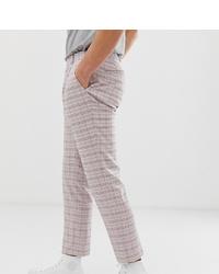 Pantalón chino a cuadros violeta claro de Noak