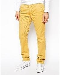 Pantalón chino amarillo de Jack and Jones