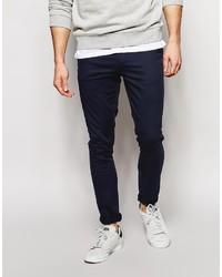 Pantalón chino azul marino de Asos