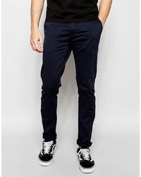 Pantalón chino azul marino de Minimum