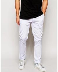 Pantalón chino blanco de Asos