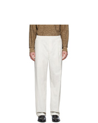 Pantalón chino blanco de Lemaire