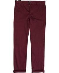 Pantalón chino burdeos