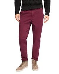 Pantalón chino burdeos de Esprit