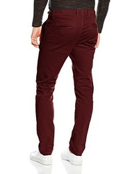 Pantalón chino burdeos de Jack & Jones