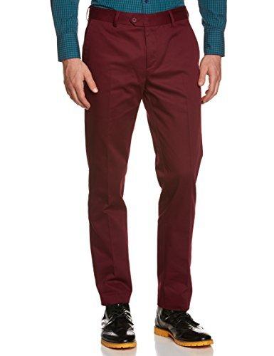 Pantalón chino burdeos de Merc of London