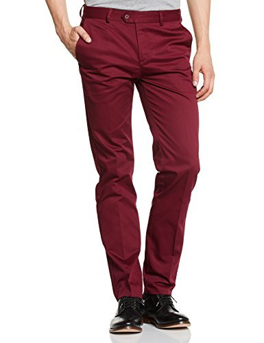 Pantalón chino burdeos de Merc of London