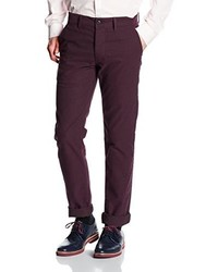 Pantalón chino burdeos de New Look