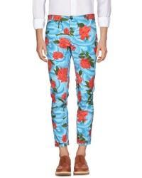 Pantalón chino con print de flores en multicolor